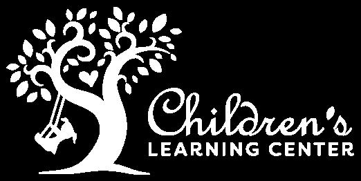 children's learning center white logo